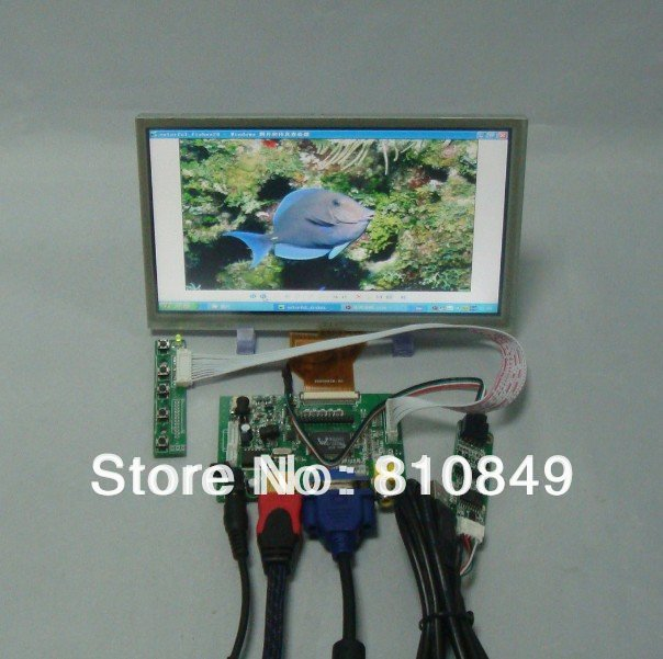 HDMI VGA 2AV LCD Driver Board+8inch AT080TN64 800X480 LCD Screen With Touch Panel vga 2av revering driver board 8inch 800 600 lcd panel ej080na 05b touch panel