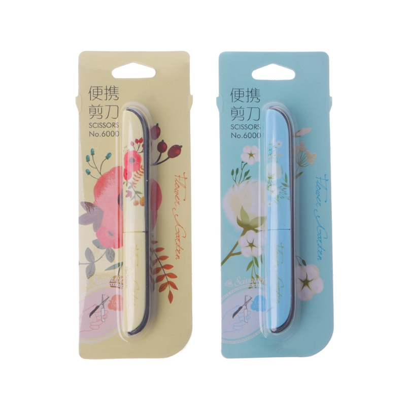 Creative Flowers Pattern Portable Scissors Stationery Scissors Novelty Scissors W15