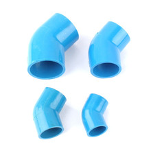 Inner Dia. 20mm 25mm 32mm 40mm 45 Degree Elbow Pipe Connectors Blue PVC Durable Tube Hose Adapter Garden Irrigation Joint