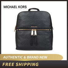MK Michael Kors Rhea Signature Zip Slim Backpack  30H6GEZB2L/30H6SEZB2L(China)
