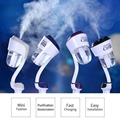 5V 2.1A Dual USB Charger Air Humidifier Car Air Purifier Air Freshener Ultrasonic Atomization Aromatherapy Mist Maker Fogger