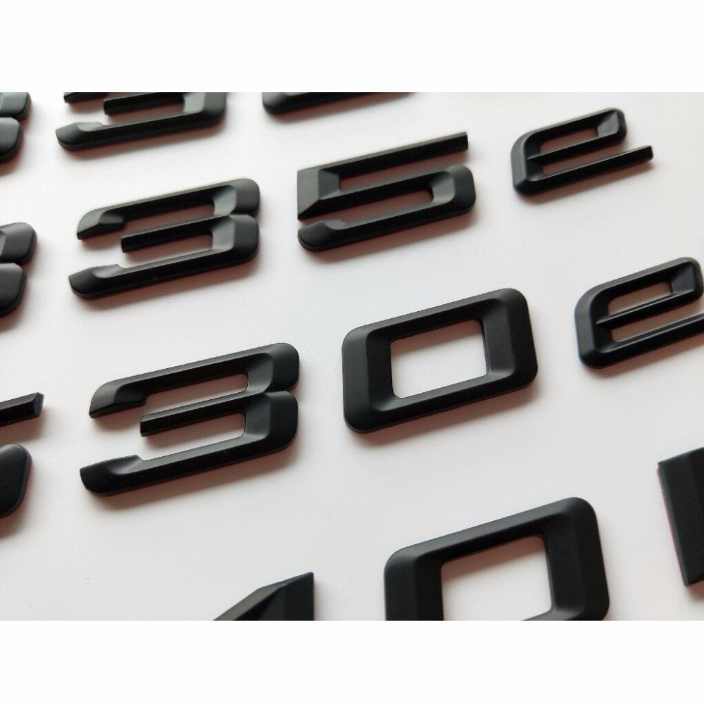 Insignia con emblema de letras negras cromadas TDI para tapa de maletero