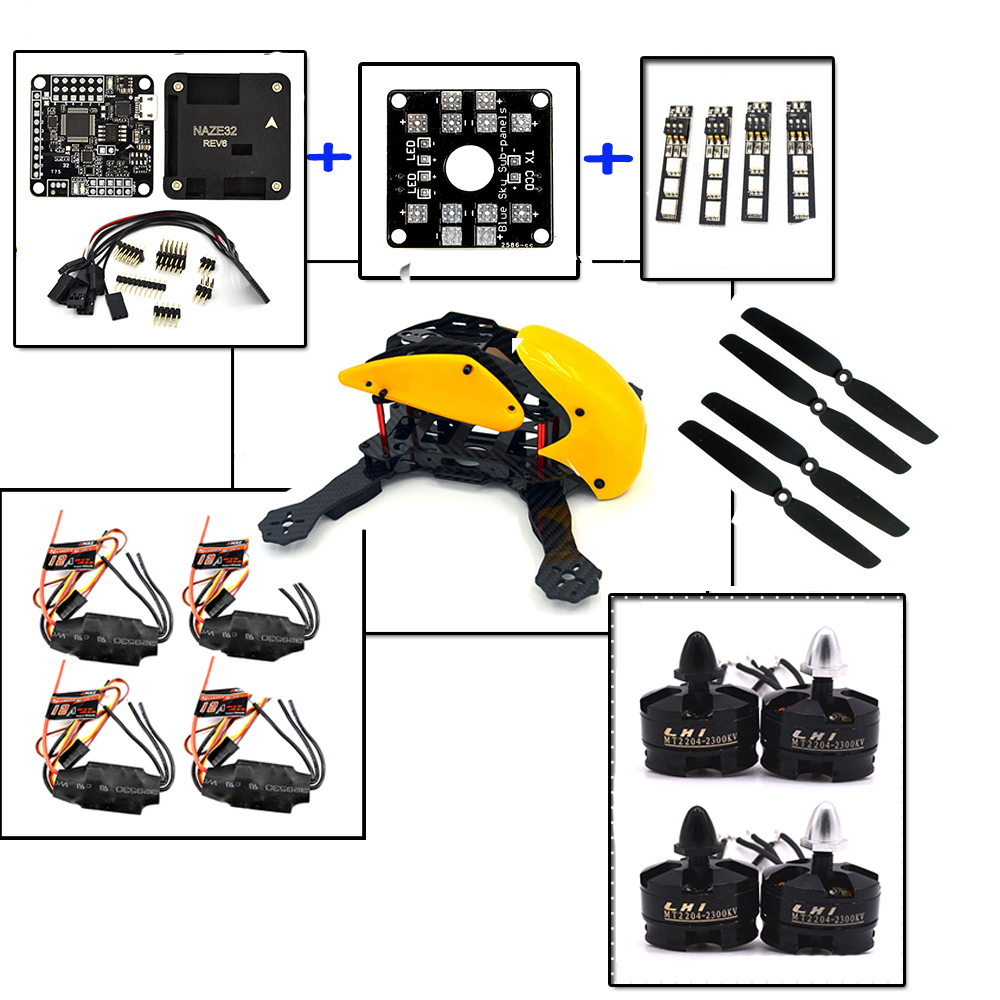 FPV Robocat 4-Axis Carbon Fiber Quadcopter Frame Naze 10DOF LHI Mt2204 2300kv Motor 12A ESC 6030 props Rc drones the newest diy fpv race drones robocat 270mm 4 axis fiber glass mini 270 quadcopter frame