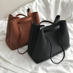 Fashion PU Leather Woman Shoulder Bags Brand Handbags Women Bucket Bags Casual Messenger Bag Large Capacity Women Mujer Bolsas