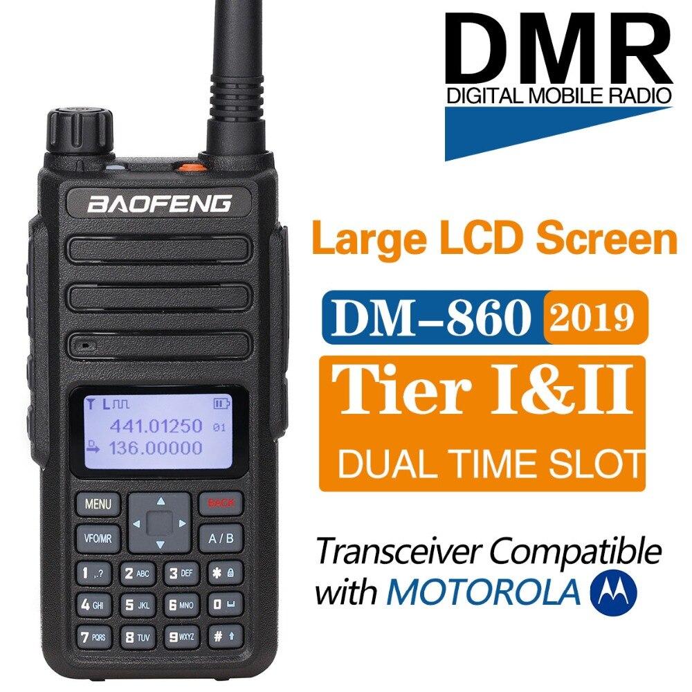 Baofeng DM 860 Digital walkie talkie Tier 2 tier ii Dual Time Slot DMR Analog Two