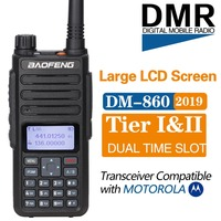Baofeng DM 860 Digital walkie talkie Tier 2 tier ii Dual Time Slot DMR/Analog Two Way Radio portable radio upgrade of dm 5r plus