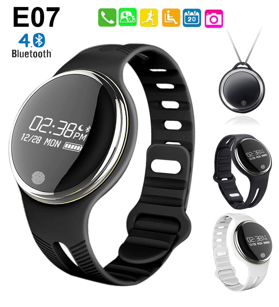 E07 Bluetooth Smart Bracelet IP67 Waterproof Pedometer Fitness Tracker Sports S