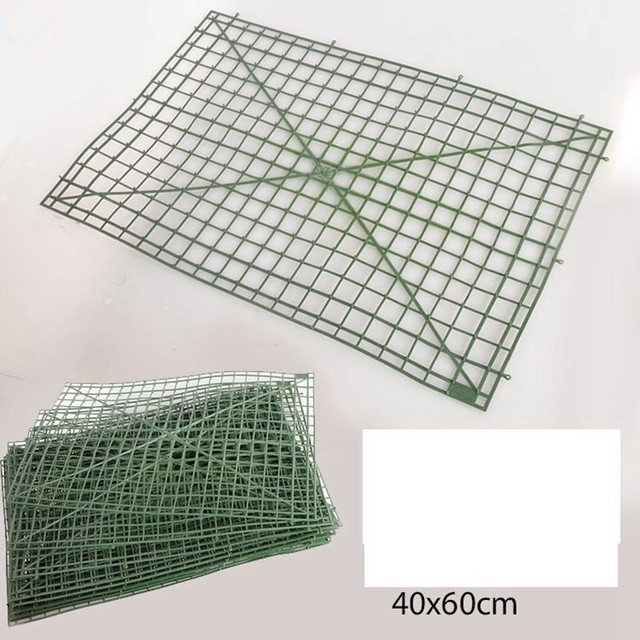 60x40cm Plastic Frame For Flowers Wall Arches DIY Wedding Decoration Backdrop Plastic Bent sub-rack Flower Row Factory Sale(China)