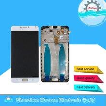 Хорошее M & Sen для 5,5 «Asus Zenfone 4 Max ZC554KL X001D ЖК-экран + Сенсорная панель планшета с рама белый/черный Бесплатная доставка