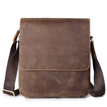 Neweekend Shoulder Bag Men Genuine Leather Handbag Bag Male Briefcase Crazy Horse Men's Messenger Crossbody Large Male Flap Tote