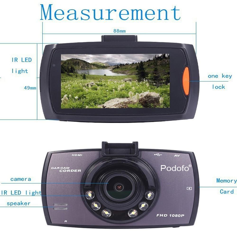 Aliexpress com buy original podofo car dvr camera g30 full hd 1080p 140 degree dashcam video registrars for cars night vision g sensor dash cam from