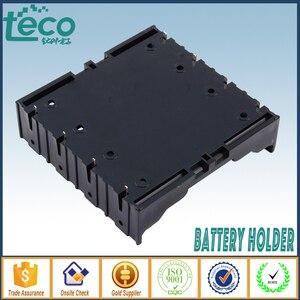 Image 3 - 4 sztuk/partia 18650 uchwyt baterii czarny plastik 4x3.7 V 18650 baterie 8 Pin TBH 18650 4A P