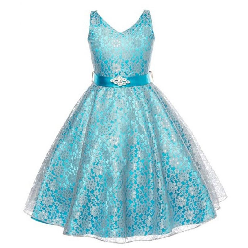 2016 새로운 여름 민소매 활 공 가운 소녀 드레스 - 아동복