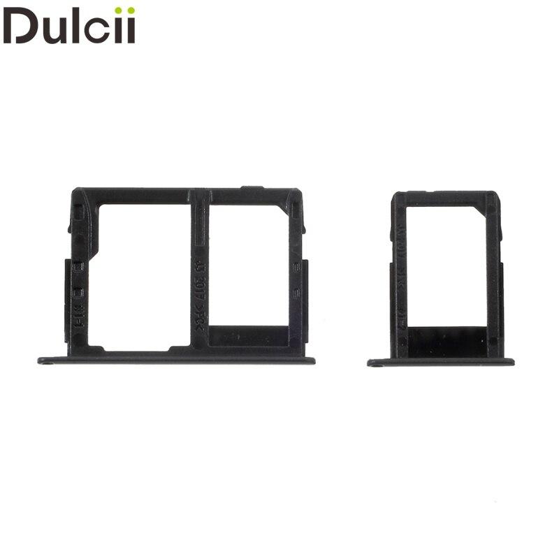 Dulcii for Galaxy J 3 (2017) OEM SIM1 + SIM2/Micro SD Card Tray Holder Parts for Samsung Galaxy J3 (2017) - Black