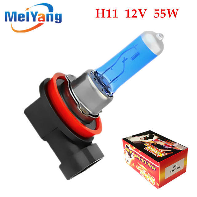 H11 55W 12V Super White Halogen Bulb Fog Lights High Power Car Headlights Lamp Car Light Source parking auto