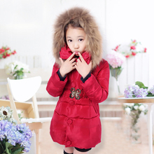 2017 Winter explosion models genuine girls velvet down jacket Clover waist decorated special sales in the United States Size