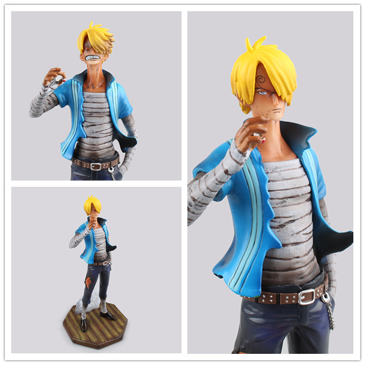 Anime one piece action figure 24cm Sky Piea sanji pvc action figure model toys doll collection gift brinquedos juguetes hot new hot 11cm one piece vinsmoke reiju sanji yonji niji action figure toys christmas gift toy doll with box