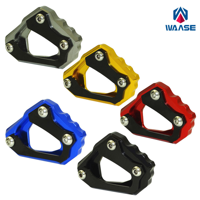 US $16 99 |waase MT10 FZ10 16 18 Motorcycle Kickstand Foot Side Stand  Extension Pad Support Plate For Yamaha MT 10 FZ 10 2016 2017 2018-in Covers  &