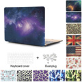 New Decal Star Flower Flag Laptop Bag Shell For Macbook Air 13 Case Pro 13.3 Pro Retina 12 13 15 For Apple Mac book air 11 inch