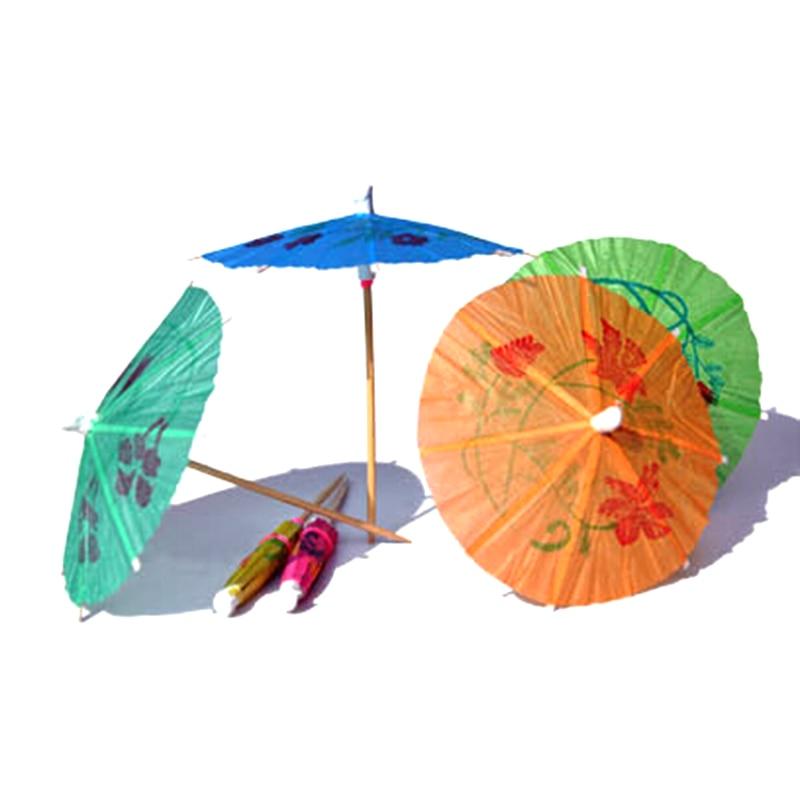 2016 Cocktail decorative Garnishes umbrella bamboo stick form snack cakes fruit sign 10 cm long 144 pcs/set