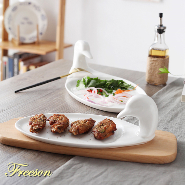 Creative Duck Porcelain Snack Plates Fruit Dishes Cake Plate Candy ...