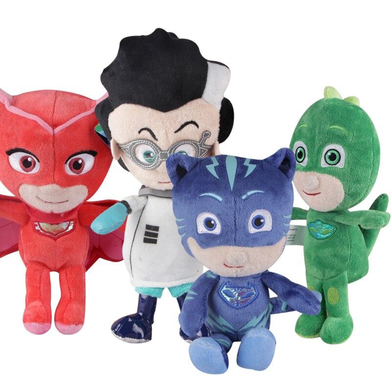 1pc 20cm*25cm Catboy Owlette Gekko Cloak Characters Pajamas Mask Action Figure Stuffed Plush Dolls Toy Party Favors
