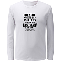 Fashion Build A Snowman Long Sleeve Funny T Shirt Men Women Fitness Boy S Girl S