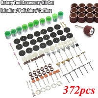 372pcs Electric Engraving Rotary Tool Accessory Set Grinder Head For Dremel Sanding Grinding Polishing Cutting Bit