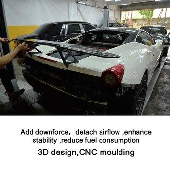 Carro De Fibra De Carbono Traseiro Trunk Spoiler Asa Para 458 Ferrari Aranha Base De Convertible 2 Porta 2011 2012 2013