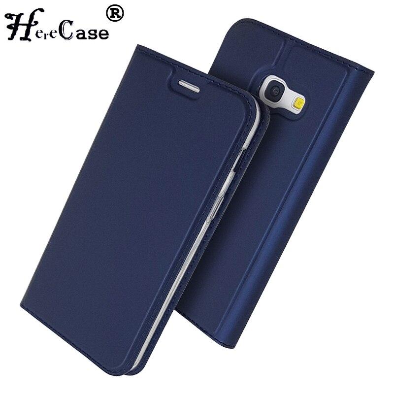 Pour Samsung A5 2017 étui souple support en polyuréthane couverture de livre fente pour carte portefeuille en cuir étui pour Samsung Galaxy A3 A5 A7 2017 coque de téléphone