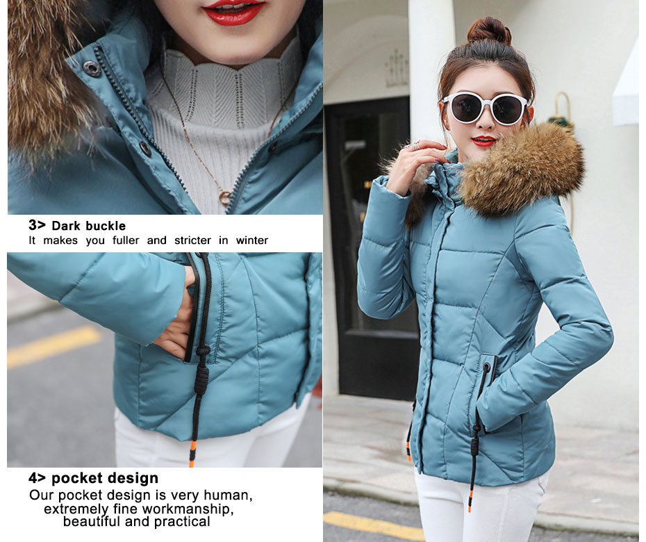 HTB1IMTVlcIrBKNjSZK9q6ygoVXa9 2019 Winter Jacket women Plus Size Womens Parkas Thicken Outerwear solid hooded Coats Short Female Slim Cotton padded basic tops