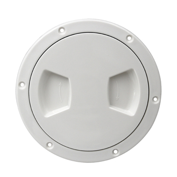 5 Inch White Anti Slip Hand Hole Plastic Round Marine Boat RV Hatch Cover  Screw Out Deck Inspection Plate plastic kids hand boat