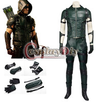 Cosplaydiy Green Arrow Season 4 Oliver Queen Cosplay Costume Outfit Custom Made