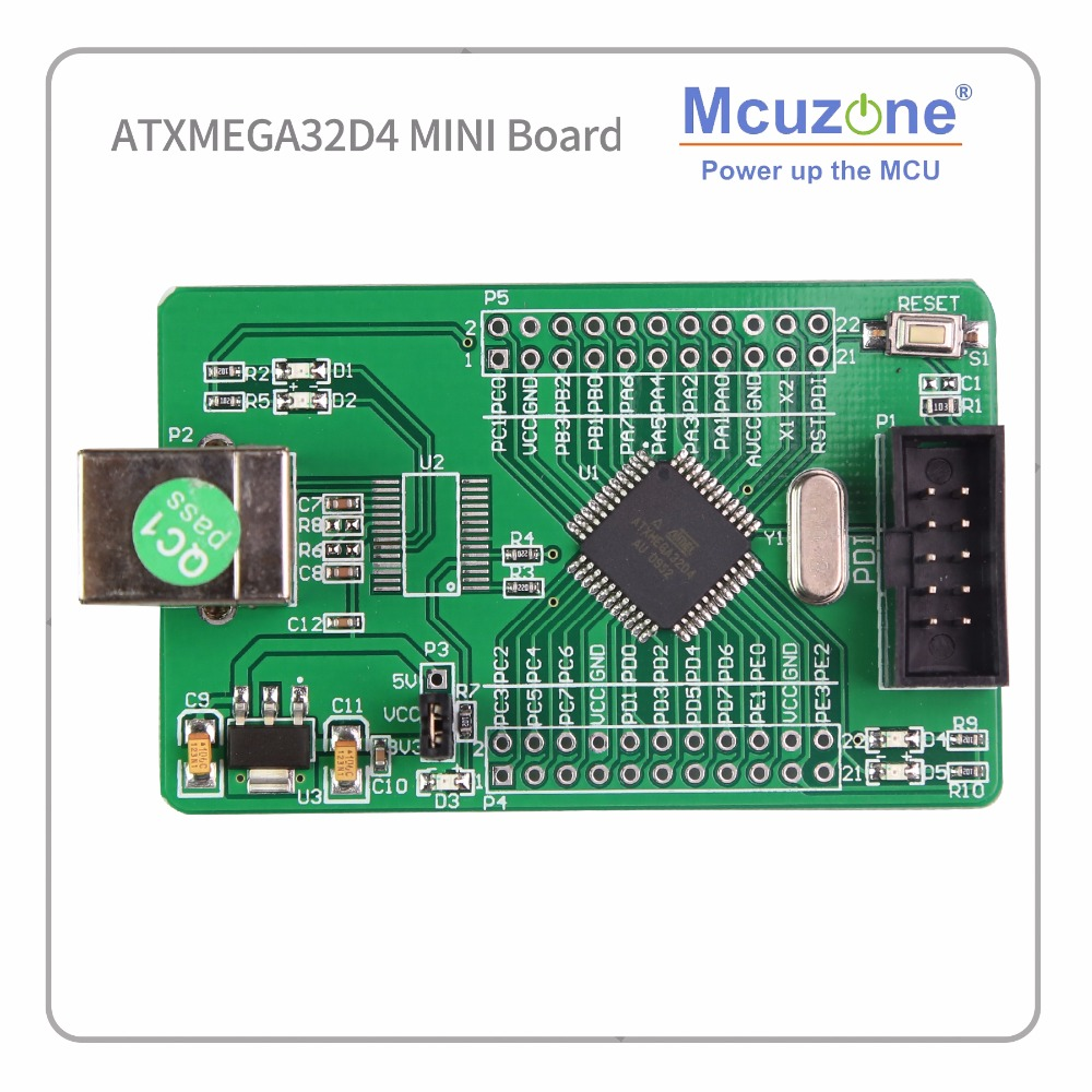 ATxmega32D4 Mini Development Kit Xmega32D4 32D4 2 UART Atmel AVR BOARD MICROCHIP PDI MCU IC