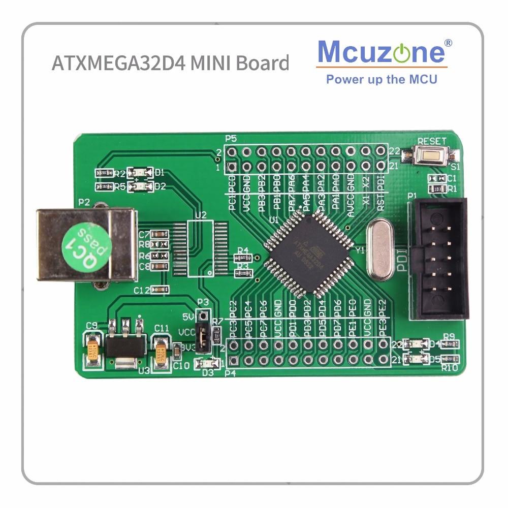ATxmega32D4 Mini Development Kit Xmega32D4 32D4 2 UART Atmel AVR BOARD MICROCHIP PDI MCU IC