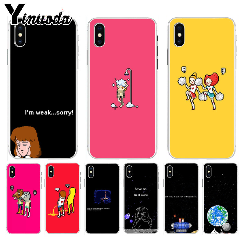 Phone Bags & Cases Rapture Yinuoda Pixel Moon Earth Save Me Im All Alone Solid Color Fashion Phone Cases For Iphone 8 7 6 6s Plus X Xs Max 5 5s Se Xr Clear-Cut Texture