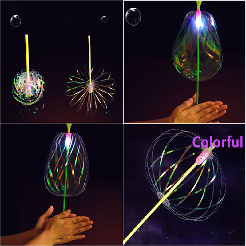 Funny Popular Soap Bubble Colorful Shook Stick Blowing Bubble Play Outdoor Activety Wands Toys Amused For Children Kid Baby