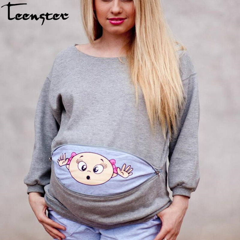Maternity Clothes Pregnant Plus Size Woman Sweatshirt Spring Long Sleeve Tops Maternity Hoodie Cute Clothes Casual Shirt
