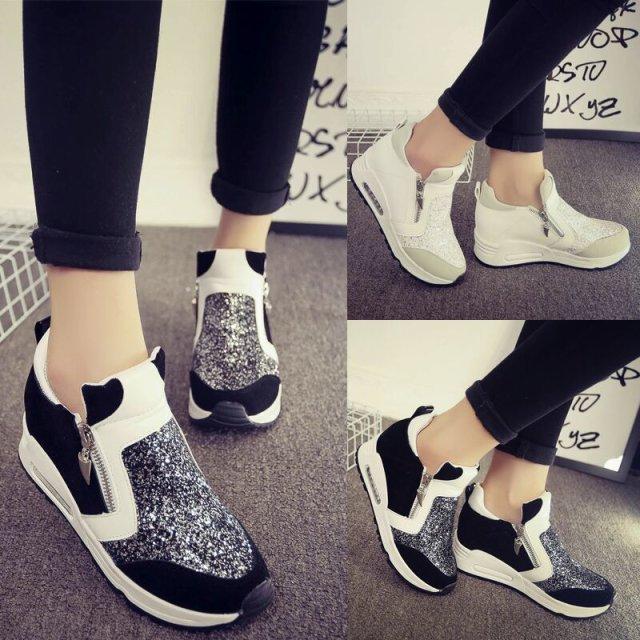 Zapatos Mujeres Otoño Mujer Casual Wedge Zapatillas q0wp5gx7