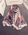 Чешские шарф 2016 женщин женский весна осень Испания стиль boho этническая дизайнер длинный шарф кабо обруч шали