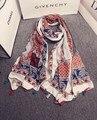 Bohemian scarf 2016 women female spring autumn Spain style boho ethnic designer long print scarf cape shawl wrap