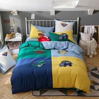 Home Textile Cartoon Dinosaur car Bedding Sets Children's Beddingset Bed Linen Duvet Cover Bed Sheet Pillowcase cotton bed Sets
