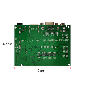 Image 4 - LCD TTL LVDS Controller Board  VGA 2AV 50PIN for AT070TN90 92 94 Support Automatically VS TY2662 V1 Driver Board