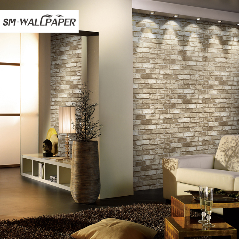 Brand Modern 10m PVC Brick Wallpaper 3D Design Vinyl Wall Paper Stickers for Living Room Background Wall Interior Decor giraffe 3d wall stickers living room decoration