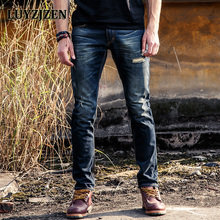2017 Italian Style Fashion Solid Skinny Jeans Men Brand Designer Clothing Boys Denim Pants Luxury Casual Trousers Male 40