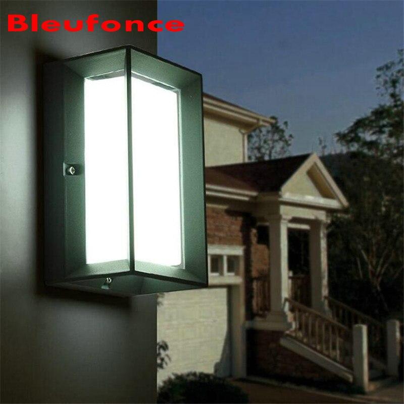 ФОТО Modern 10W LED Waterproof Garden Light Outdoor Wall Lamp IP65 wall Mounted Courtyard Led wall lights AC90-260V NB71