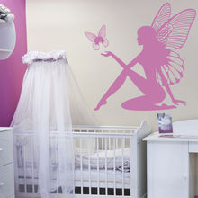 Fairy & Butterfly Fantasy Wall Sticker Artistic Design Wall Decal Girls Room Nursery Decor E-co Friendly Vinyl Wallpaper SA315