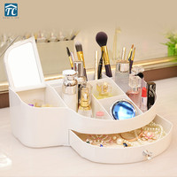 Cosmetic Storage Box Makeup Drawer Mirror Lipstick Skin Care European Desktop Brush Container Sundries Mobile Phone Dressing