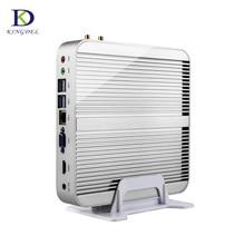 Седьмого поколения кабы озеро mini pc windows 10 безвентиляторный компьютер tv box 4 К дисплей hd htpc 300 м wifi (Core i5 i3 7200U 7100U) 16 Г 512 Г SSD