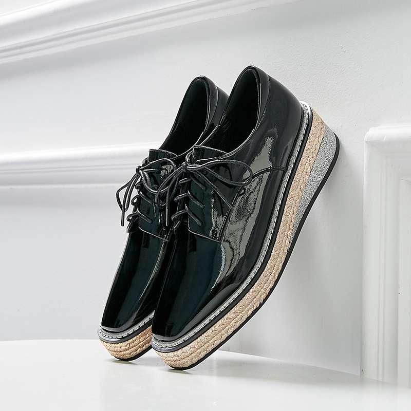 Namoro, casuais, botas de couro de moda de colarinho branco - 4